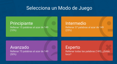 elige modo juego learn Spanish with songs