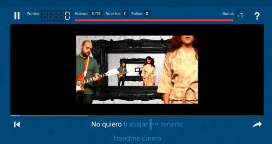 lyricstraining punsetes practice Spanish