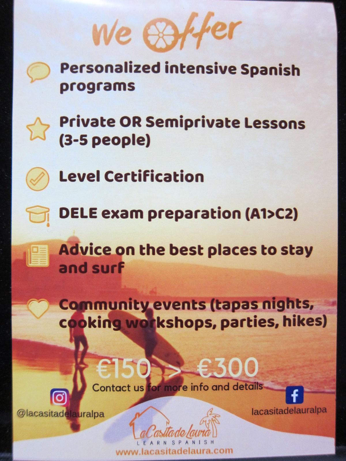Learn Spanish in Gran Canaria2. La Casita de Laura.