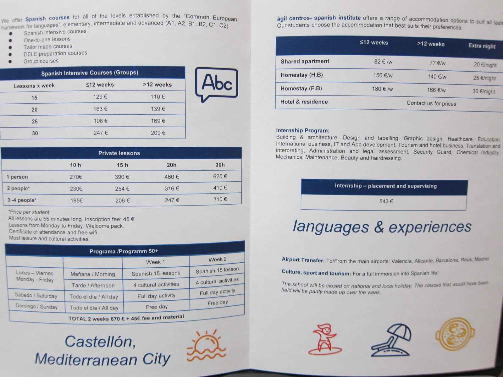 Learn Spanish in Castellon AGIL