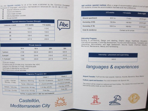 Learn Spanish in Castellon AGIL
